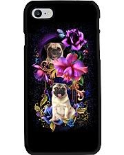 Pug Dog Flower Phone Case Phone Case i-phone-7-case