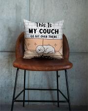 Bichon Frise Personalized Text Square Pillowcase aos-pillow-square-front-lifestyle-04