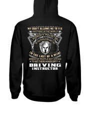 Driving Instructor Hooded Sweatshirt back