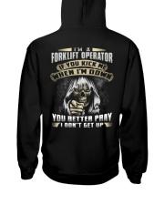 Forklift Operator Exclusive Shirt Hooded Sweatshirt back