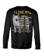 I Love My Samoyed Dog Crewneck Sweatshirt thumbnail