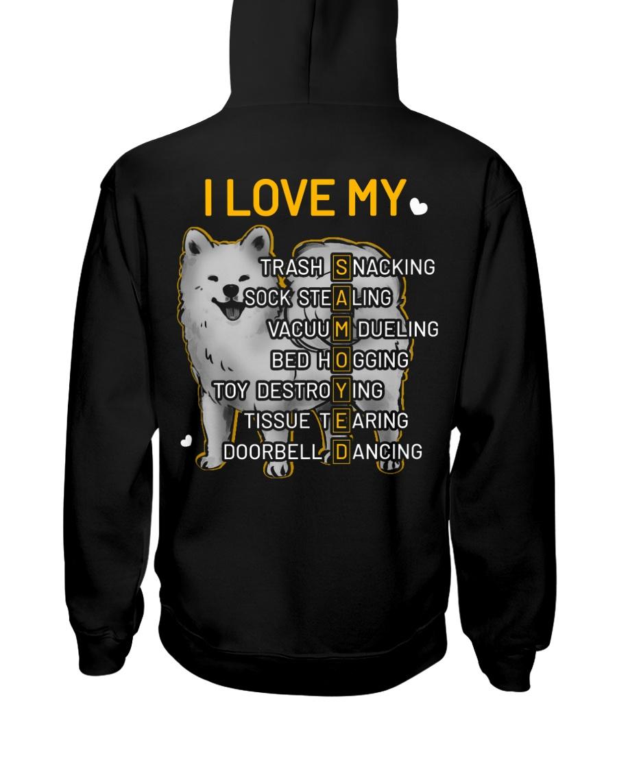 I Love My Samoyed Dog Hooded Sweatshirt