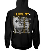 I Love My Samoyed Dog Hooded Sweatshirt back
