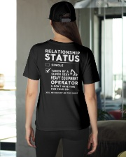 Heavy Equipment Operator Relationship Status Ladies T-Shirt apparel-ladies-t-shirt-lifestyle-back-08