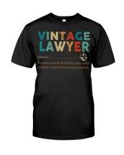 Vintage Lawyer Law Jobs Classic T-Shirt thumbnail