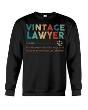 Vintage Lawyer Law Jobs Crewneck Sweatshirt thumbnail