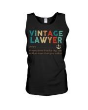 Vintage Lawyer Law Jobs Unisex Tank thumbnail