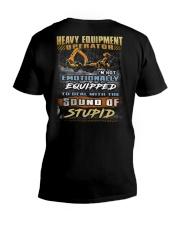 Heavy Equipment Operator V-Neck T-Shirt thumbnail