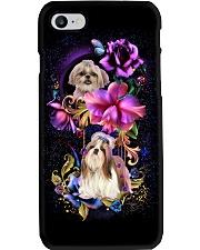 Shih Tzu Dog Flower Phone Case Phone Case i-phone-8-case