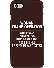 Woman Crane Operator Exclusive Shirt Phone Case thumbnail