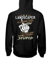 Lanscaper Hooded Sweatshirt back