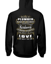 Plumber Exclusive Shirt Hooded Sweatshirt back