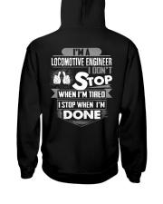 Locomotive Engineer  Exclusive Shirts Hooded Sweatshirt back