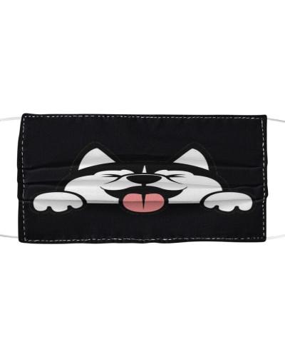 Husky Funny Face Mask