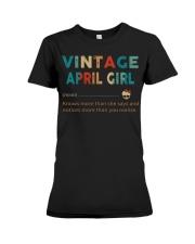 Vintage April Girl Premium Fit Ladies Tee thumbnail