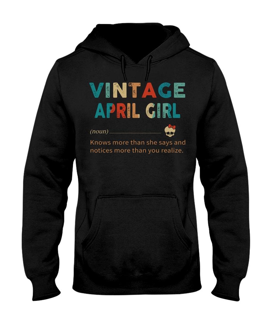Vintage April Girl Hooded Sweatshirt