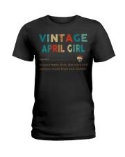 Vintage April Girl Ladies T-Shirt thumbnail