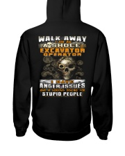 Excavator Operator Hooded Sweatshirt back