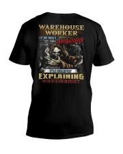 Warehouse Worker V-Neck T-Shirt thumbnail