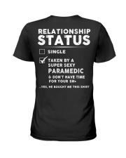 Paramedic Job Relationship Status  Ladies T-Shirt back