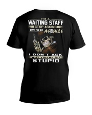 Waiting Staff V-Neck T-Shirt thumbnail
