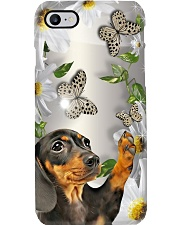 Dachshund Flower Phone Case Phone Case i-phone-8-case