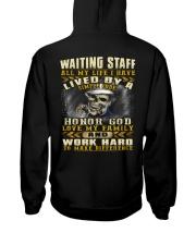 Waiting Staff Hooded Sweatshirt back