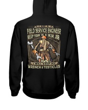 Field Service Engineer Hooded Sweatshirt back