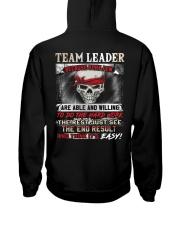 Team Leader Hooded Sweatshirt back