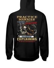 Practice Manager Hooded Sweatshirt back
