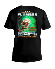 Plumber V-Neck T-Shirt tile