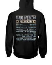 Plant Operator Hooded Sweatshirt back
