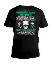 Corrections Officer V-Neck T-Shirt thumbnail
