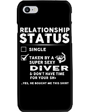 Diver Diving Status Job Shirt Phone Case tile