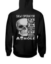 Saw Operator Exclusive Shirt Hooded Sweatshirt back