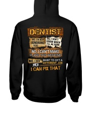 Dentist Hooded Sweatshirt back