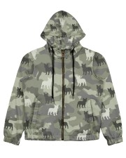 Frenchie All Over Shirt Women's All Over Print Full Zip Hoodie thumbnail