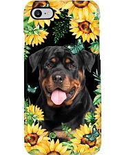 Rottweiler Flower Phone Case Phone Case i-phone-7-case