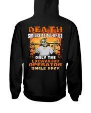 Excavator Operator Hooded Sweatshirt back