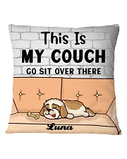Shih Tzu Personalized Text Square Pillowcase front