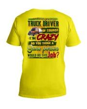 Truck Driver V-Neck T-Shirt tile
