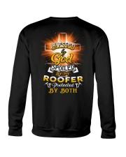 Roofer Roofers Roof Roofing Job Shirt Crewneck Sweatshirt thumbnail