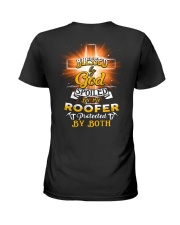 Roofer Roofers Roof Roofing Job Shirt Ladies T-Shirt back