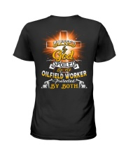 Oilfield Worker Oilfield Working Job Shirt Ladies T-Shirt back