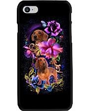 Dachshund Dog Flower Phone Case Phone Case i-phone-8-case