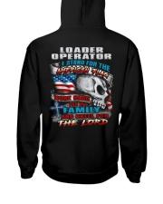 Loader Operator Hooded Sweatshirt back