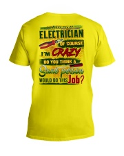 Electrician V-Neck T-Shirt tile