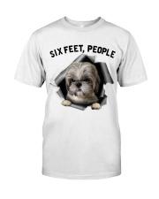 Shih Tzu 6 Feet People Shirt Classic T-Shirt tile