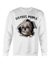Shih Tzu 6 Feet People Shirt Crewneck Sweatshirt tile
