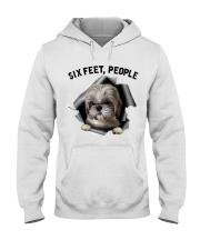 Shih Tzu 6 Feet People Shirt Hooded Sweatshirt tile